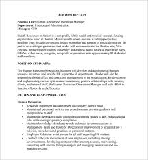 resume format administration manager job profiles 10 operation manager job description templates free sle