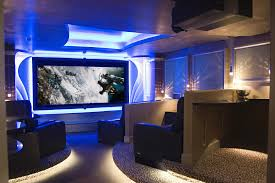 Interior Design For Home Theatre Wonderful Home Theaters Designs With Blue Lighting Ideas On The