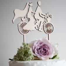wedding cake topper bicycle made for two by the hummingbird card