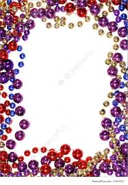 mardi gras picture frames bead string outline photo