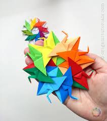 origami crane wreath series nr 3 u2013 origami tutorials