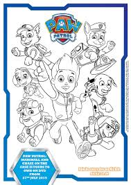 paw patrol colouring pages activity sheets paw patrol