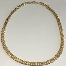 gold plated curb necklace images Sterling silver gold plated chain necklace double curb 925 italy JPG