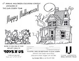 6th annual halloween colouring contest toronto vaughan u0026 the gta