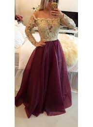 a line long sleeve burgundy prom dress new arrival lace floor