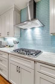 sink faucet blue tile backsplash kitchen ceramic subway