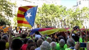 demonstartion for catalonia independence 11th september 2017 youtube