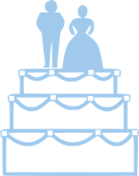 wedding cake outline simple blue wedding cake outline with and groom png svg