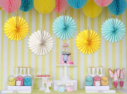 hanging paper fans how to create a party backdrop the party fetti