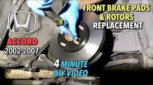 2007 honda accord rotors honda accord front brake pads rotors replacement 2002 2017 4
