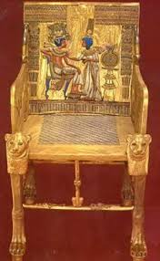 King And Queen Throne Chairs Tut Exhibit King Tutankhamun Exhibit Collection Furniture And