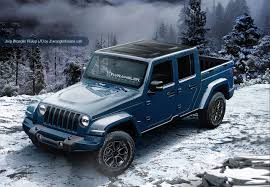 jeep blue grey 2018 jeep wranger jeep wrangler pickup rendered
