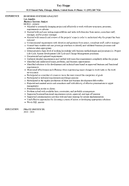 System Support Analyst Resume Business Systems Analyst Resume Sample Velvet Jobs
