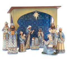 jim shore heartwood creek 10 blue nativity set page 1