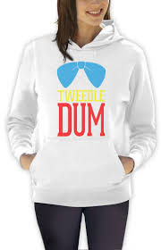 cute halloween shirts for women tweedle dum costume women hoodie matching couples halloween dee