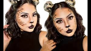 Cheetah Face Makeup For Halloween Cat Cheetah Halloween Makeup Tutorial Youtube
