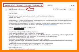 sample email sending resume example email sending resume to hr