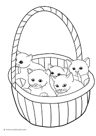 cat basket clipart 13