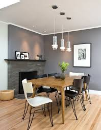 dining room cool gray dining room with wood dining table and
