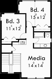 4 Bdrm House Plans Vacation House Plans Two Story House Plans 4 Bedroom House Plan