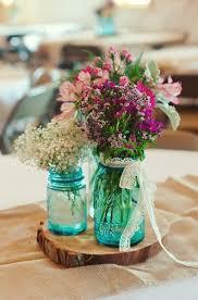 Mason Jar Wedding Centerpieces Something Vintage Rustic Blue Mason Jars Wedding Ideas Inspired4u
