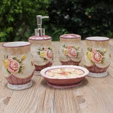 Handicraft Home Decor Items Aliexpress Com Buy Pink Flowers Ceramic Toothbrush Holder Soap