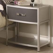 Metal Nightstands With Drawers Metal Nightstand With Drawer Visionexchange Co