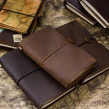 Online shop vintage genuine leather traveler 39 s notebook diary