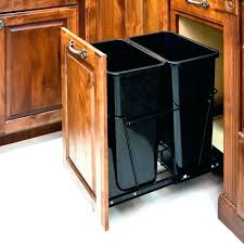 simplehuman in cabinet trash can cabinet door mounted trash can cabinet mount trash can by cabinet