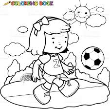 soccer player coloring page stock vector art 495471098 istock