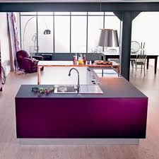 bonnet cuisine cuisine rive droite à deux blocs couleur pourpre aux fonctions