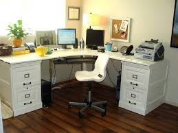 60 Inch L Shaped Desk White U Shaped Workstation W Hutch With Regard To Awesome Home L