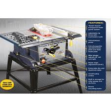 central machinery table saw fence 10 in 13 amp benchtop table saw harbor freight 140 tools
