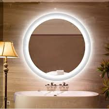 circular led light strip 20 24 28 led mirror anti fog light mirror glass wall ls silver
