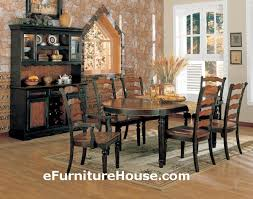 Black And Wood Dining Table Inspiring Distressed Black Dining Room Table With Distressed