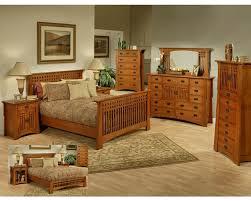 Oak Bed Set Oak Bedroom Set In Cherry Finish Bungalow By Ayca Ay Ap5 502set