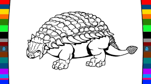 wild animal coloring page how to draw a ankylosaurus dinosaur