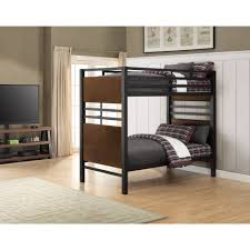 better homes and gardens mercer twin over twin metal bunk bed box