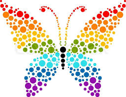 retro style butterfly isolated on white background vector