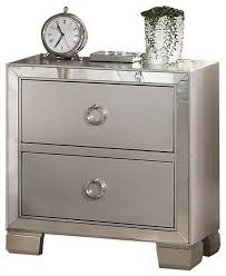 silver nightstands and bedside tables houzz