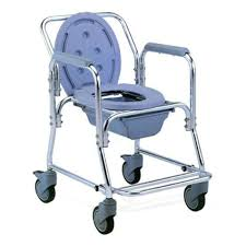 Shower Chair On Wheels Aluminium Movable Commode Shower Chair U2013 Health Mart U2013 Medical