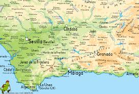 Map Spain Andalucia Map Pictures And Information Map Of Spain Pictures And
