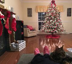Christmas Central Home Decor Holiday Living Room Tour Blog Hop One Artsy Mama
