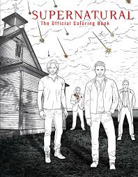 supernatural the official coloring book by insight editions
