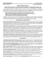 Credit Risk Business Analyst Resume Entry Level Business Analyst Resume Example With Regard To