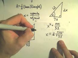trigonometric functions to find unknown sides of right triangles