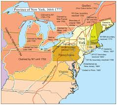 New Jersey New York Map by Province Of New York 1664 1783 Was An English And Later British