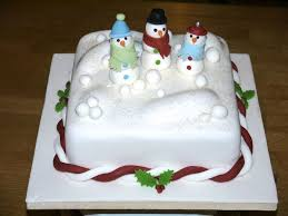 snowman christmas cake traditional fruit cake covered with