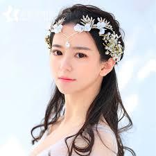 goddess headband korean goddess wedding headdress flowers rhinestone tiara
