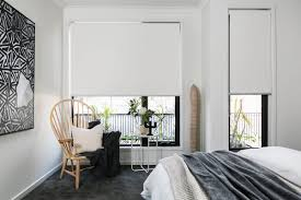 White Wood Blinds Bedroom Interior Roman Blinds To Increase The Wonderful Window Accent